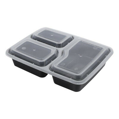 10X/20X Take away Plastic Food Containers Meal Prep Microwavable Lunch Box & Lid
