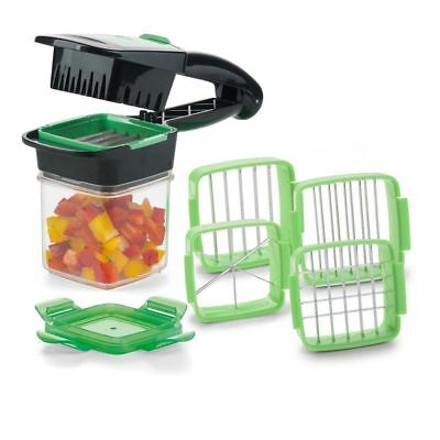 5 in 1 Nicer Quick Dicer Fruit Vegetable Cutter Set Chopper Stainless Steel