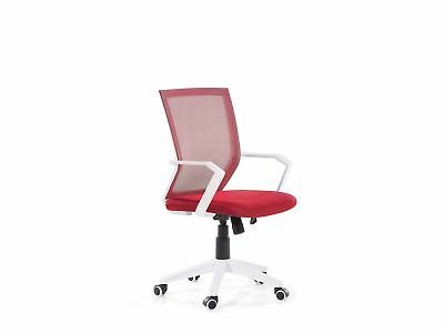 Adjustable Height Red Mesh Office Chair RELIEF