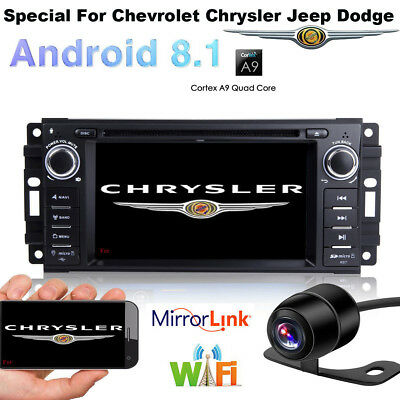 Android 8.1 Car DVD player GPS radio Stereo for Jeep Wrangler Compass 2007-2013