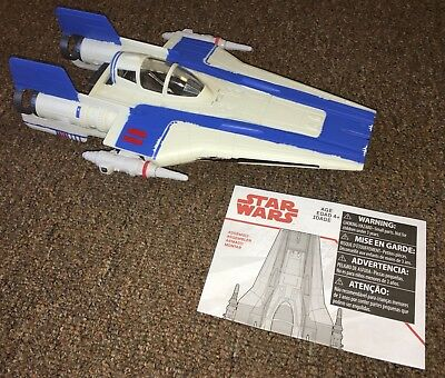 """Star Wars Last Jedi Blue A-Wing Fighter Ship Only for 3.75"""" Figures 2017"""