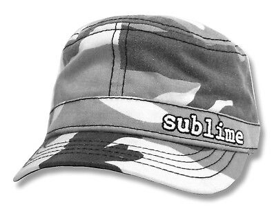 Sublime Grey Camo Camouflage Military Cadet Hat Cap New Official Band Merch OSFM