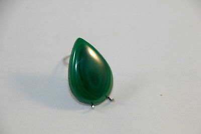 Natural Malachit Cabochon Oval ,  Edelsteine 26x18x4mm, 25ct. (27)