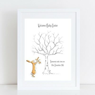 Baby Shower Thumb Print - Guess How Much I Love You Personalised