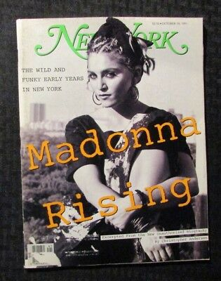 1991 Oct 14 NEW YORK Magazine VG 4.0 MADONNA Rising Cover
