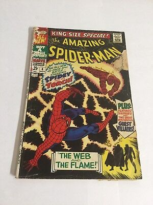 Amazing Spider-Man King Size Special 4 Gd- Good- 1.8 Marvel Comics Silver Age