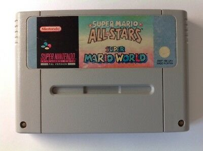 Mario World + All Stars Allstars + Snes Super Nintendo S346-3