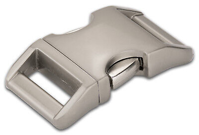 10 - 1 Inch Satin Contoured Aluminum Side Release Buckles