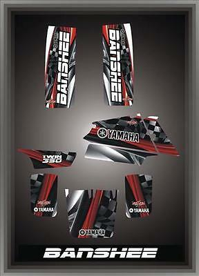 Yamaha Banshee 350Semi Custom Graphics Kit Carbon