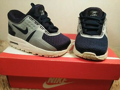 2b2bca3858949 BABY BOYS  Nike Air Max Zero Essential Shoes Midnight Navy Gray Size 4C