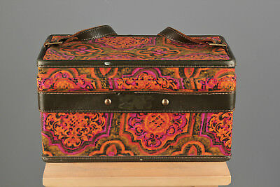 Vtg. 60s 70s Hartmann Luggage Pink Psychedelic Box Bag #695 1960s 1970s