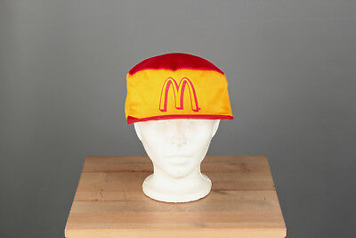 Vtg. 80s McDonalds Worker's Cap Hat One Size Fits All #739 1980s
