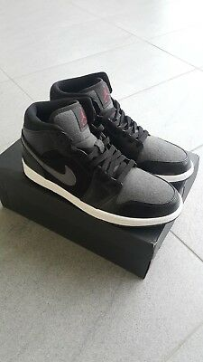 reputable site 3f2fa 5ca4e Jordan 1 Mid Retro Black WOOL WINTERIZED BNIB WINTER SHOES US 10 UK 9 EU 44