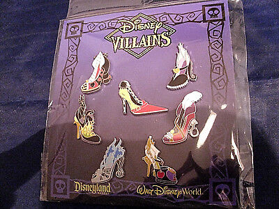 Disney * VILLAINS HIGH HEELS - SHOES * New in Package 7 Pin Booster Set