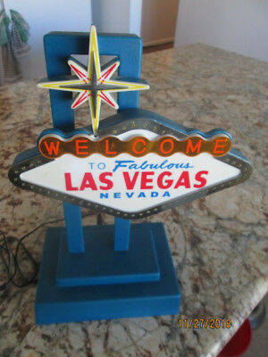 Welcome To Fabulous Las Vegas Nevada Desktop Light Up Flashing Sign Mancave