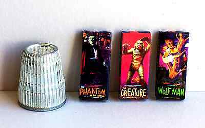 Dollhouse Miniature 1:12 Aurora Monster Model Box Set 60s Wolf Man Creature more