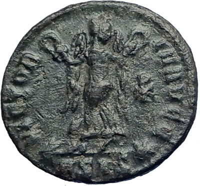 CONSTANS Authentic Ancient 347AD Victory CHI-RHO CHRISTIAN SYM Roman Coin i74212