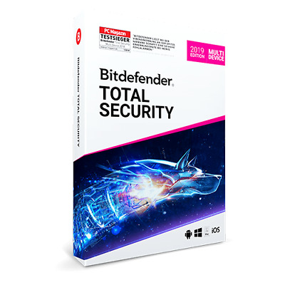 BitDefender Total Security 2019, 5 Devices, 3 Years - KEY / Activation / Licence