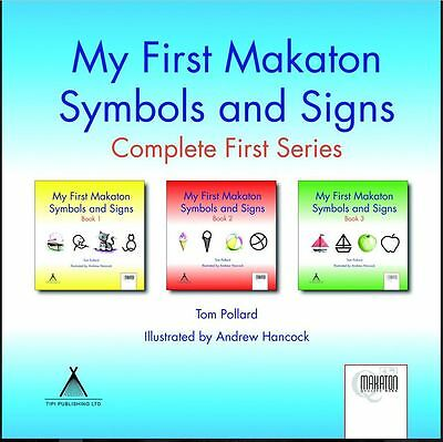 Makaton baby My First Makaton Symbols and Signs, Tom Pollard, Books 1, 2 & 3 new