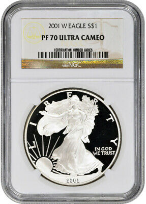 2001-W American Silver Eagle Proof - NGC PF70 UCAM
