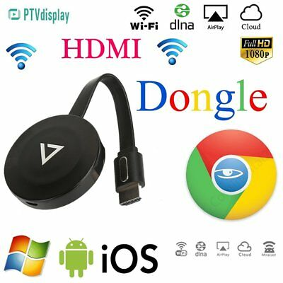 PTVdisplay Wireless Wifi Airplay Phone Screen to HDMI TV Dongle Adapter Display