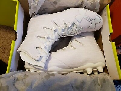 New Under Armour UA Highlight MC Football Lacrosse Cleats White 1297358-100/101