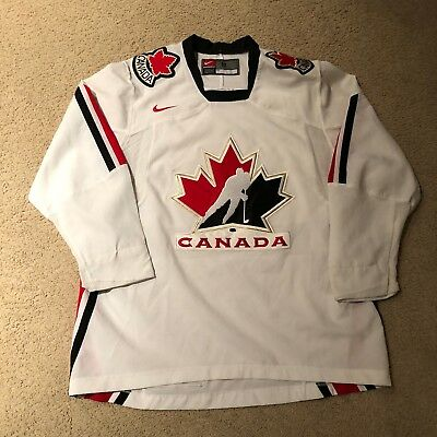 2006 Team Canada Iihf World Junior Hockey Jersey Nike Medium Polycom