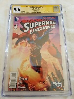 Superman Unchained #1 CGC 9.6  Brett Booth Variant Cover DC SS Jim Lee