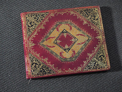 Vintage Moroccan Hand Tooled Womens Leather Wallet -- MCM 1960s