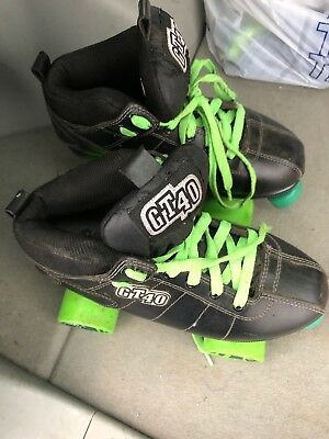 Rock Skates GT40 Roller Skates size 8 GREAT sure-grip aerobic wheels derby