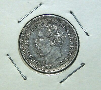 Portuguese India - 1881 - 1/4 Rupia - Great Coin!