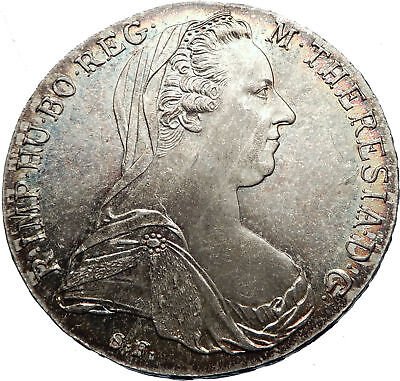 1780-1960 Maria Theresa Austria Germany Queen Silver Thaler Large Coin i72031
