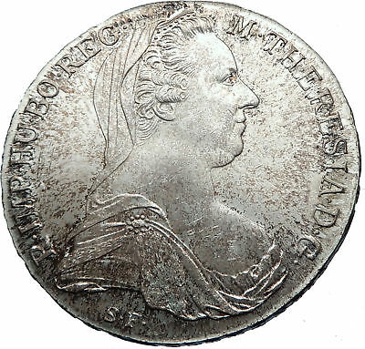 1780-1960 Maria Theresa Austria Germany Queen Silver Thaler Large Coin i72032