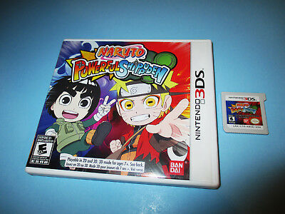 Naruto Powerful Shippuden (Nintendo 3DS) XL 2DS Game w/Case (No Manual)
