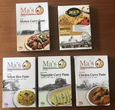 9x Authentic Sri lankan Curry Paste Ma's Kitchen - Easy Home Cooking