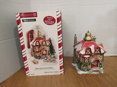 Dept. 56 North Pole 2006 Ulysses The Christmas Bell Maker #56.56954 Please Read