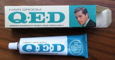 Vintage Hair Groom Qed Tonic 1957 Dooms Dandruff New Old Stock From Barber Shop