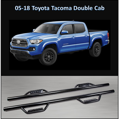 2005 Toyota Tacoma Double Cab >> 2005 2018 Toyota Tacoma Double Cab Hoop Step Smooth Nerf Bar