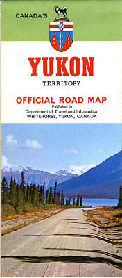 1970 Official Road Map of the Yukon Territory
