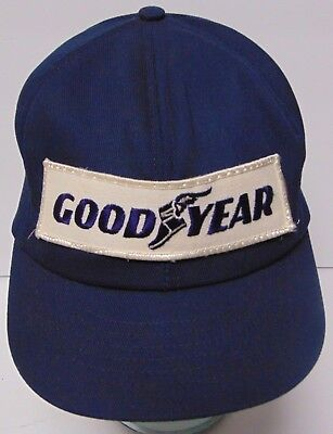 Old Vintage 1980s GOODYEAR TIRES Advertising Patch SNAPBACK TRUCKER HAT CAP  USA ed66ce95047f