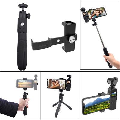 For DJI OSMO Pocket Handheld Gimbal Selfie Stick Tripod Stand Clip Holder C7