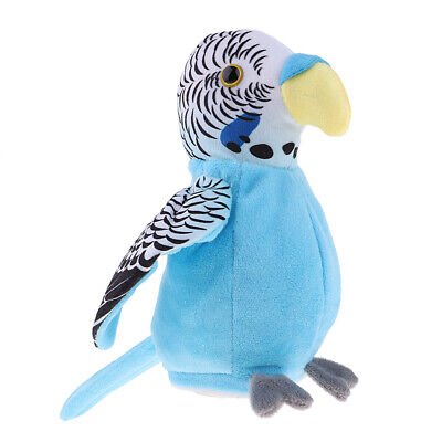 Kids Recorder Blue Talking Parrot Game with Voice Recognition Technology Toy