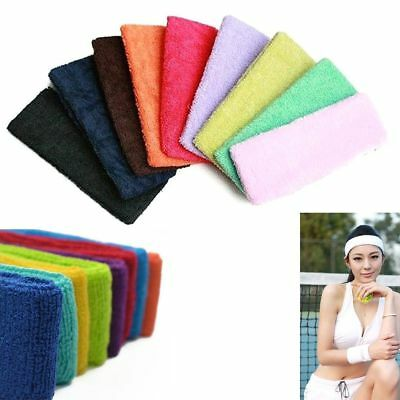6cm Hot Mens Women Sweat Sports Headband Sweatband Gym Stretch Yoga Hair Band