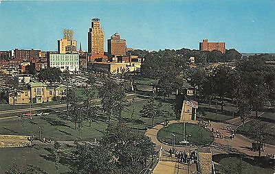 Niagara Falls New York~Aerial View from Schoellkopf Tower~City in Bkgd~1950s Pc