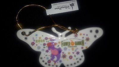 NEW Disney Epcot Flower & Garden Festival BUTTERFLY FIGMENT Ceramic Ornament