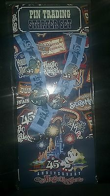 NEW Disney Parks Magic Kingdom 45th Anniversary Lanyard Trading Pin Starter Set