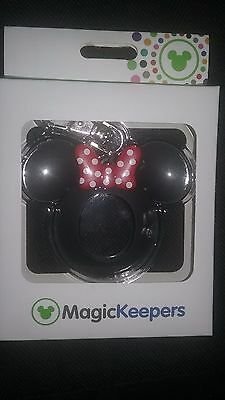 NEW Disney Parks Magic Keepers Magic Band 2 2.0 Puck MINNIE MOUSE Key Chain Fob