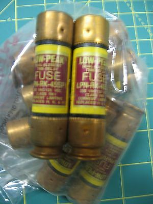 NINE Bussmann LPN-RK-45SP, Low Peak Time Delay Fuse, 250 VAC 125 VDC  - NOS