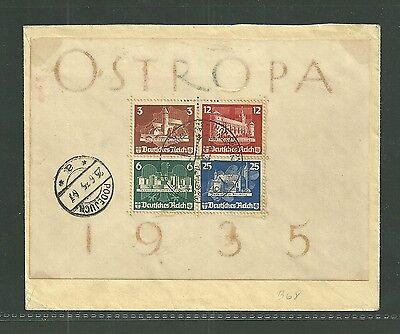 Germany Sc.#b68-1935 Ostropa Sheet On First Day Cover-Cat. $1,680.00
