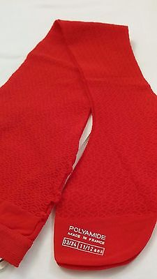 1960's French Girls Red Tights Lacy Pattern Age 11 to 12